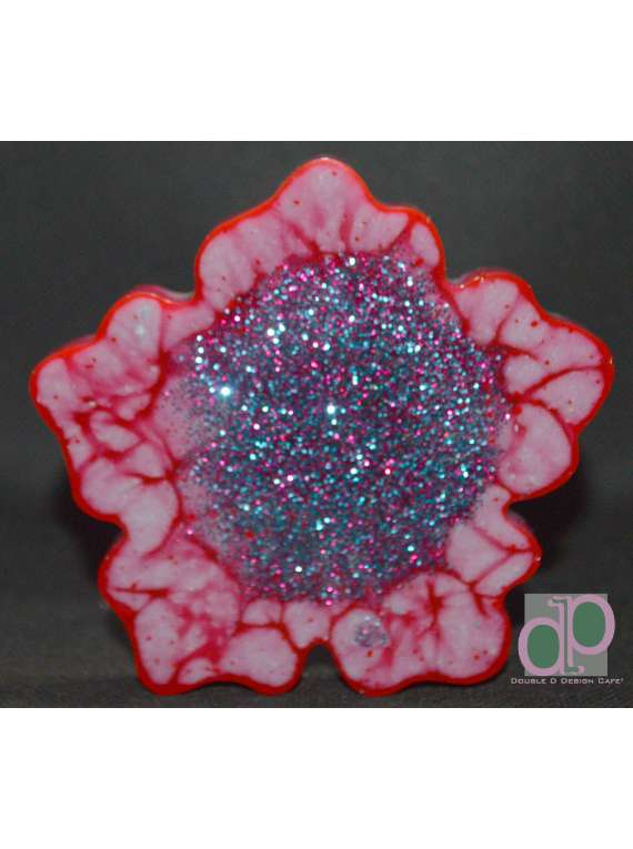 Red And Teal Resin Coa...