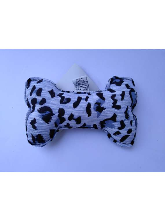 Bone Chew Toy - No Squeaky - Grey Animal Print