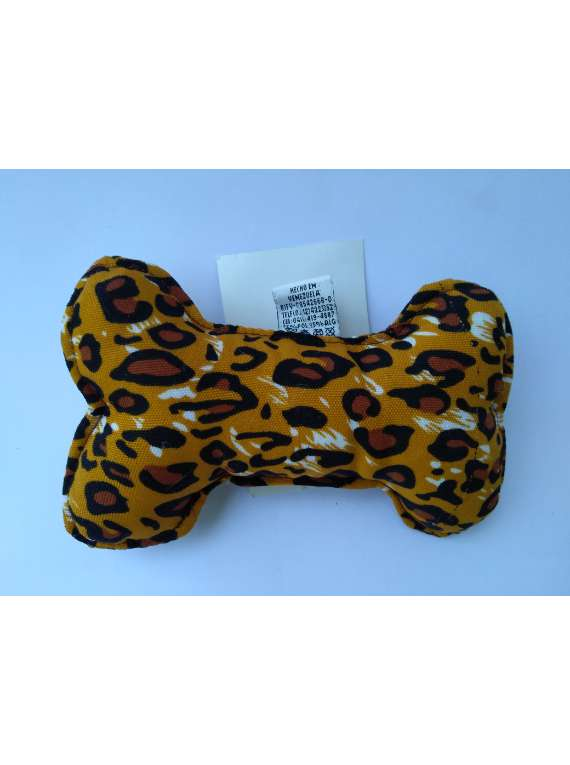 Bone Chew Toy - No Squeaky - Leopard  Animal Print