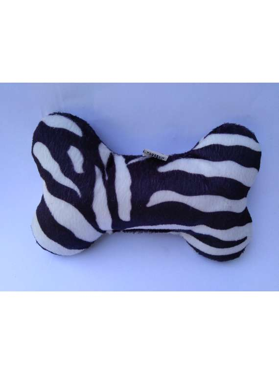 Bone Pillow Toy-  zebra Animal Print