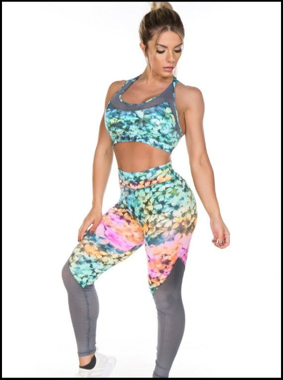 Colourful Flowers Fitness Set