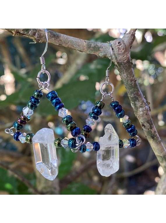 Raw Crystal Earrings