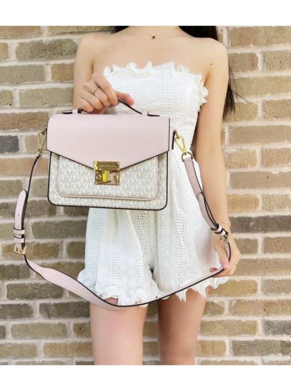 Michael Kors Rose Top Handle Medium Crossbody Handbag