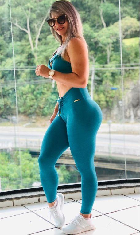 Leggings Turquoise Plain