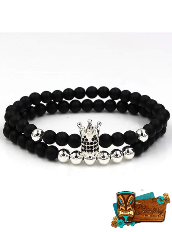 Black Agate And Crown
