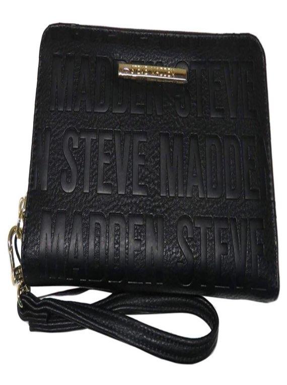 Steve Madden Black Wristlet