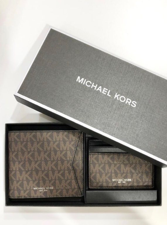 Michael Kors Black Wallet Set