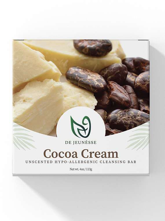 Cocoa Cream- Unscented Hypo-allergenic Cleansing Bar By De Jeunéusse