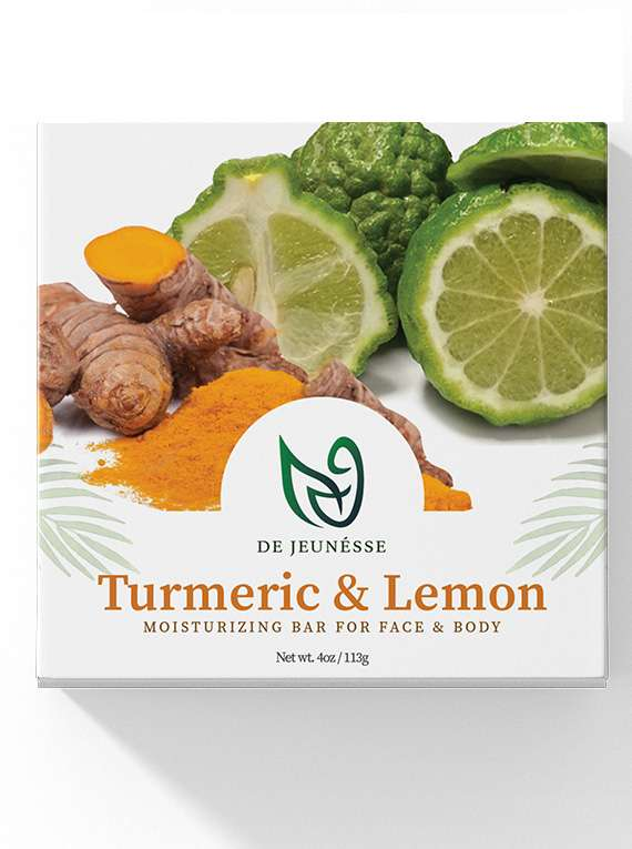 Turmeric & Lemon - Moisturizing bar For Face & Body - By De Jeunésse