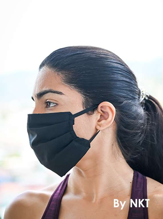 3-Layered Cotton Masks (BLACK)  - NIKKI  FACE MASKS