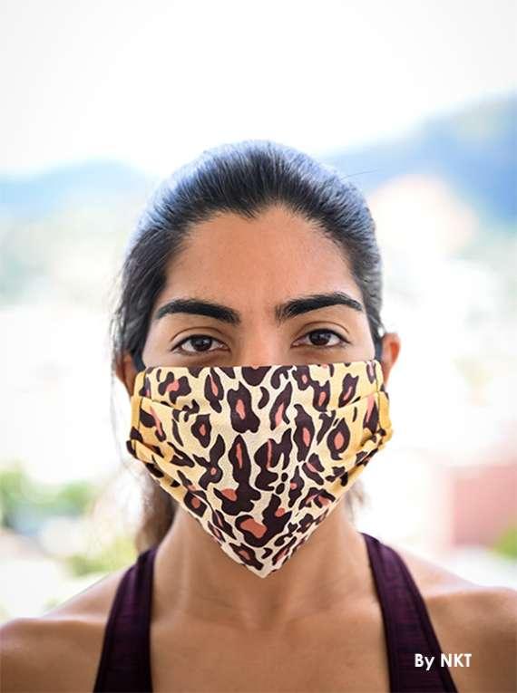 3-Layered Cotton Masks(Leopard Pattern) -NIKKI  FACE MASKS
