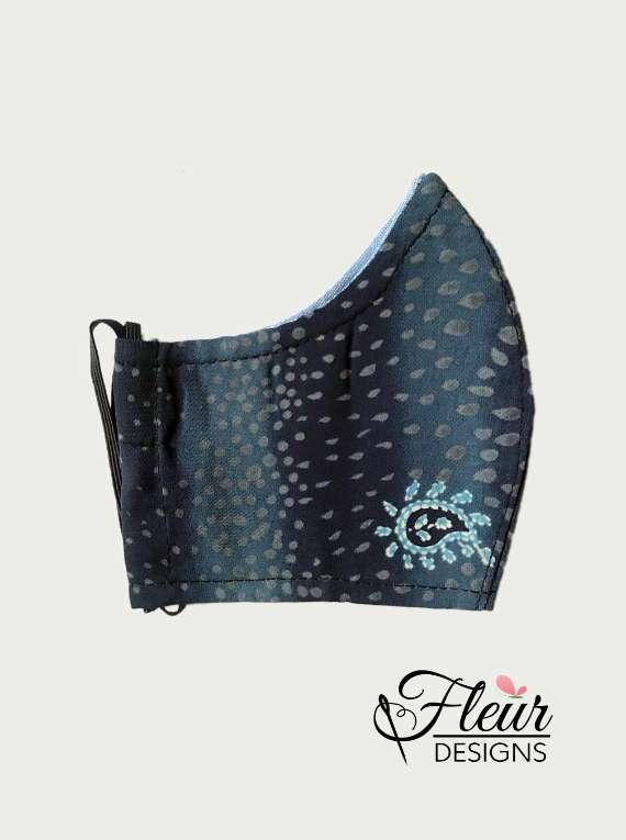 Fleur Designs - Blue Patterned Mask