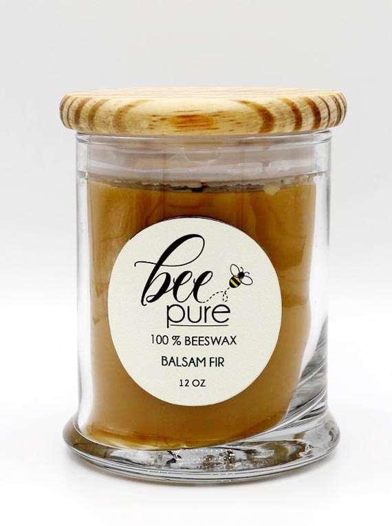 100 Percent  Beeswax Candle : Balsam Fir - Bee Pure
