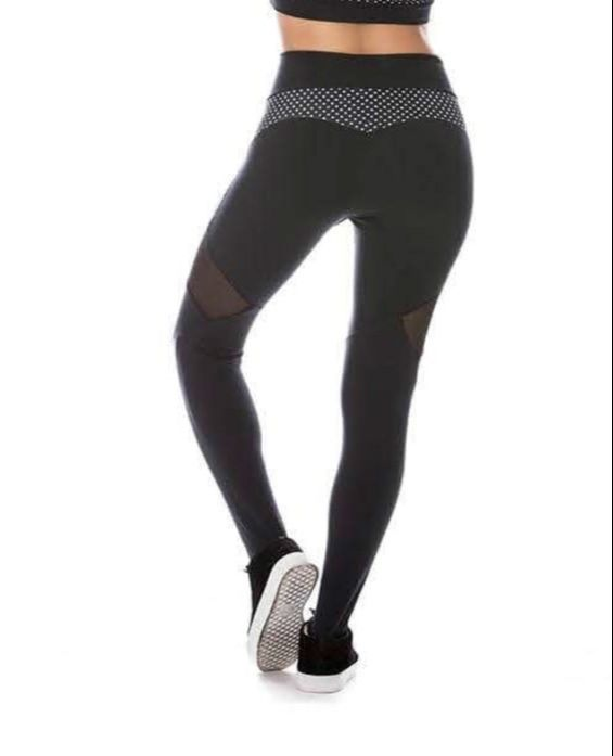 Polka Dot Mesh Leggings