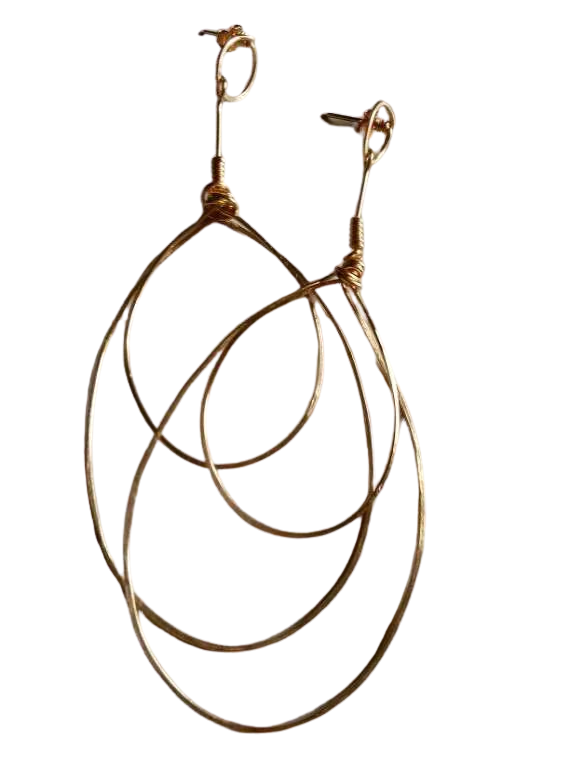 Double Pear Hoops image