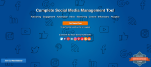 eClincher homepage image, social icons