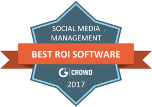 G2 Crowd selected eClincher as the best ROI for social media management software