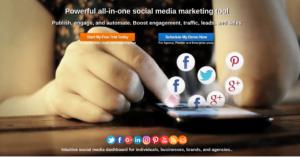 eClincher homepage slider. Best social media marketing software.