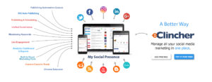 eClincher social media marketing tool illustration