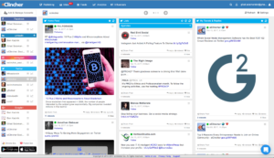 Social media management tool with live social feeds