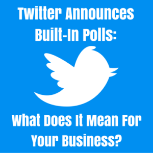 Twitter announce built-in polls
