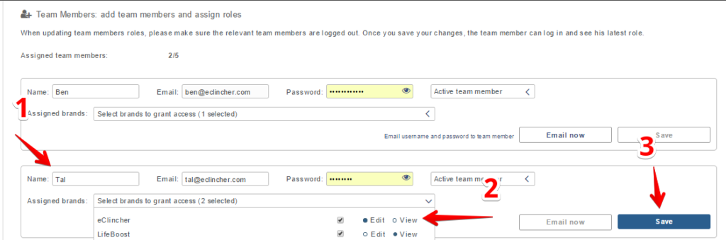 how to add and set up a team member with eClincher