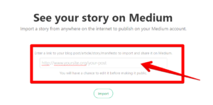 import your story on medium