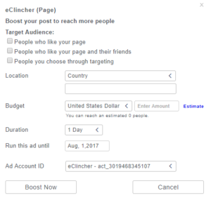 how to boost post in eclincher