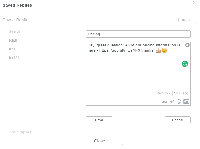 how to automatically save replies on social media