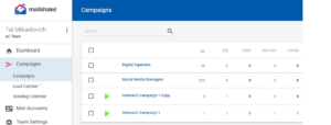 mailshake outbound email campaigns
