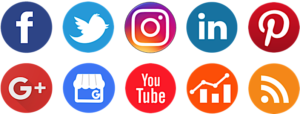 social media icons for social media management platform, eClincher