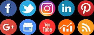 social media icons for social media management software, eClincher