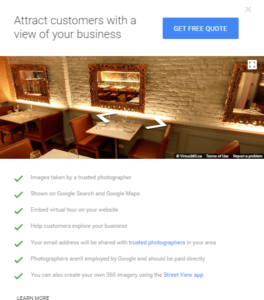 Google My Business Virtual Tour