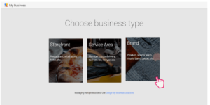 Google My Business Choose Your Business Type
