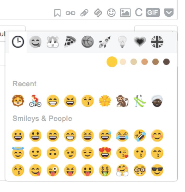 Google My Business, emoji