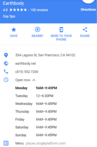 google my business details about the listing