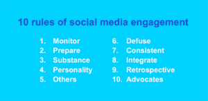 Recommended 10 rules of social media engagement