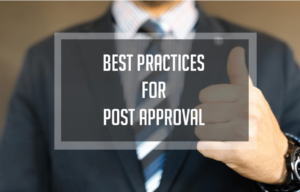 Best practices for post approval