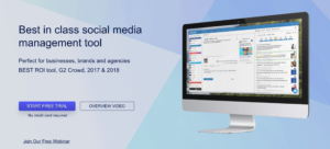 eclincher home page social media management tool