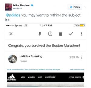 adidas boston marathon tweet