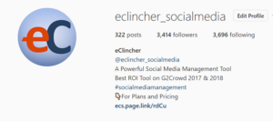 eCllincher Instagram Business Profile