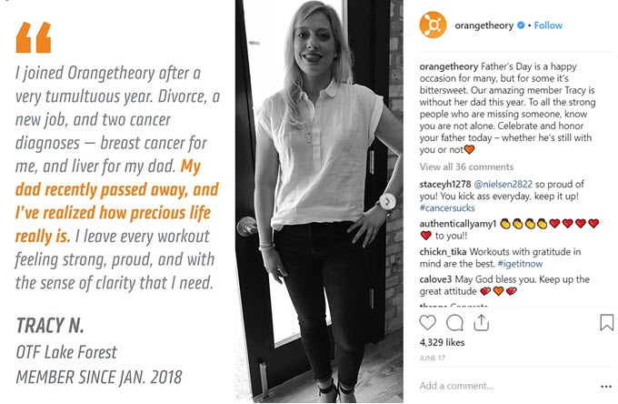 orange theory instagram business