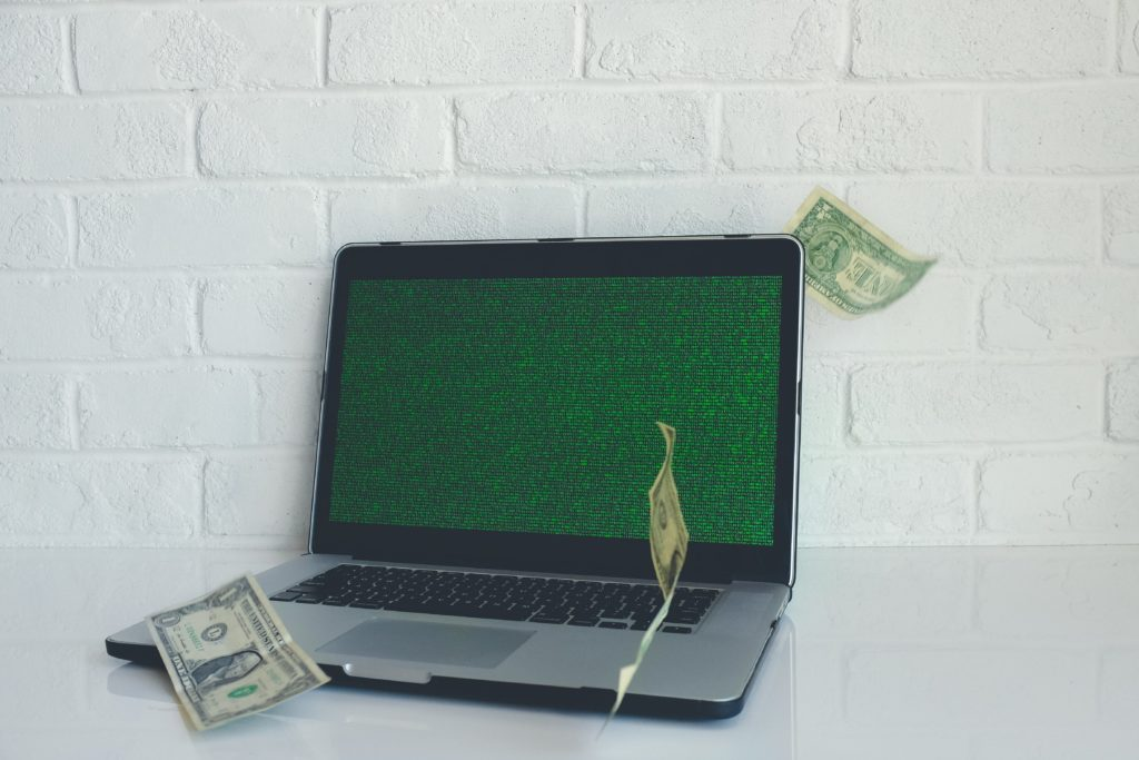 money and laptop