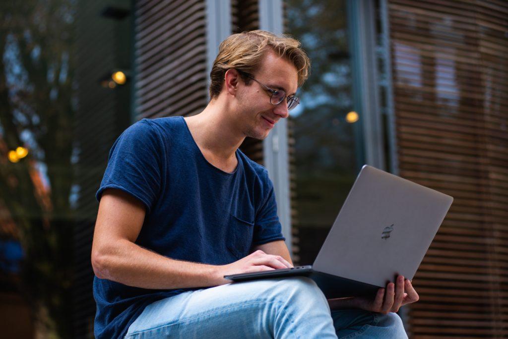 man on laptop