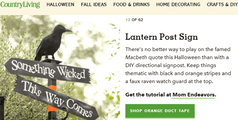 lantern post sign