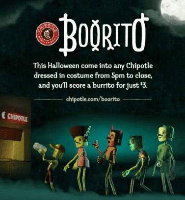 chipotle boorito halloween social media posts