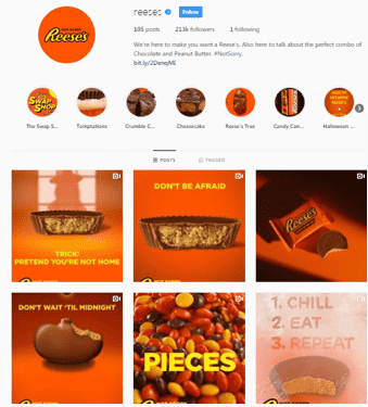 reeses instagram page