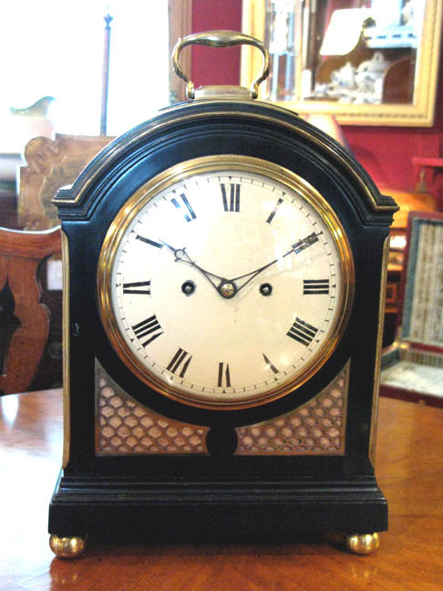 Completed French polished clock