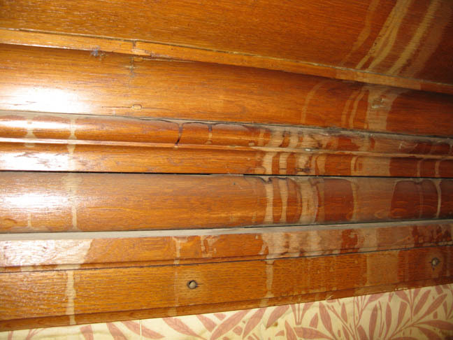 Damaged oak mouldings and polish