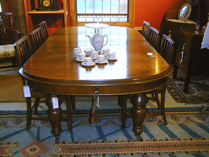 Fully restored and French polished table
